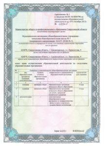 Лицензия Приложение 1